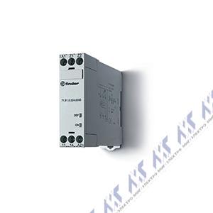 Контрольные реле напряжения тока finder купить в МИГ Электро Контрольное реле для 1 фазных сетей пониженное повышенное напряжение настраиваемые симметричные диапазоны выход 1co 10А модульное ширина 35мм
