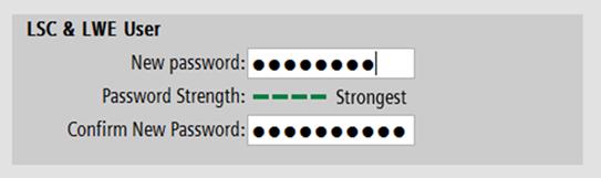 Отображение качества вводимого пароля