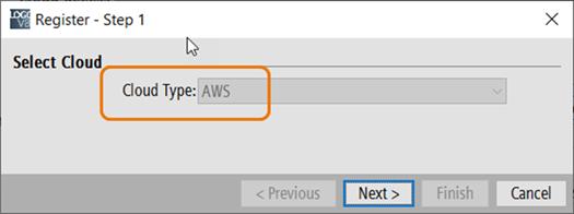 Мастер подключения к облаку Amazon Web Service (AWS)