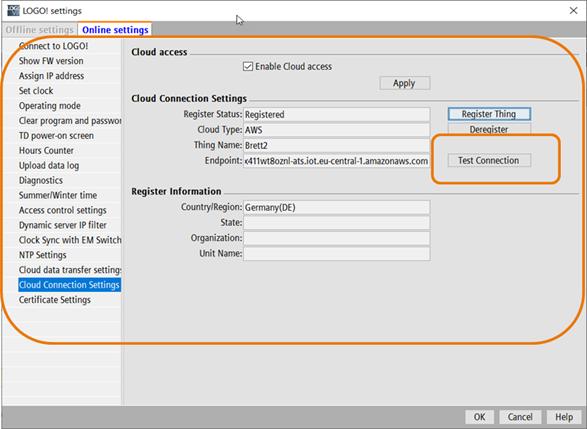 Обзор сконфигурированного подключения к облаку, проверка соединения и работоспособности конфигурации