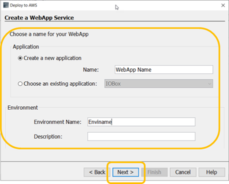 Выбор имени и среды для веб-приложения
