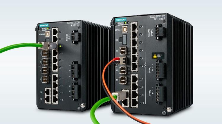 Коммутаторы Ethernet RUGGEDCOM RST916P и RST916C от Siemens