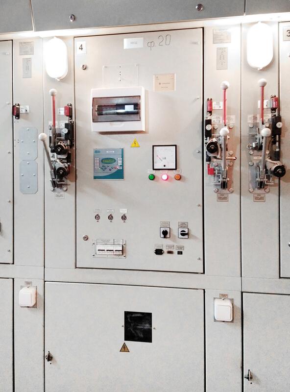 Анализатор качества электроэнергии на вводных ячейках распределительного устройства (РУ 10кВ)