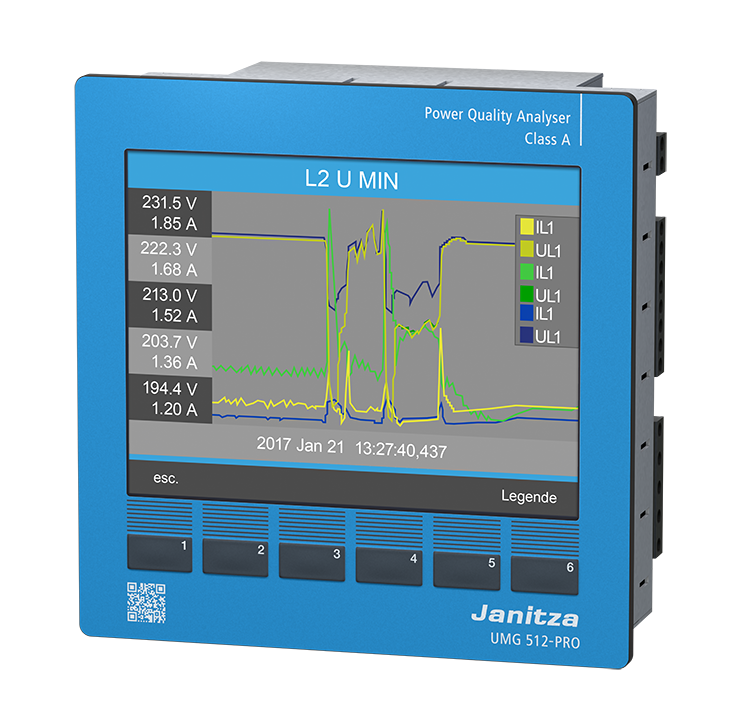 Анализатор качества электроэнергии Janitza UMG 512