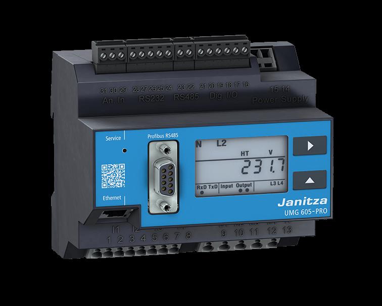 Анализатор качества электроэнергии Janitza UMG 605