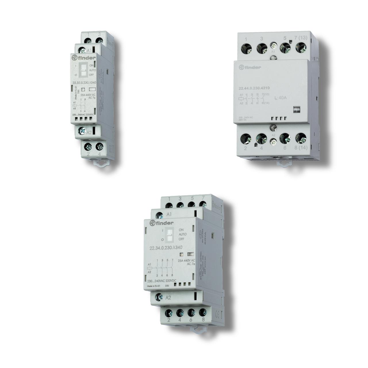 Модульные контакторы FINDER 22 серии
