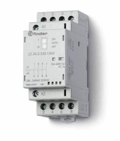 Модульные контакторы FINDER 22