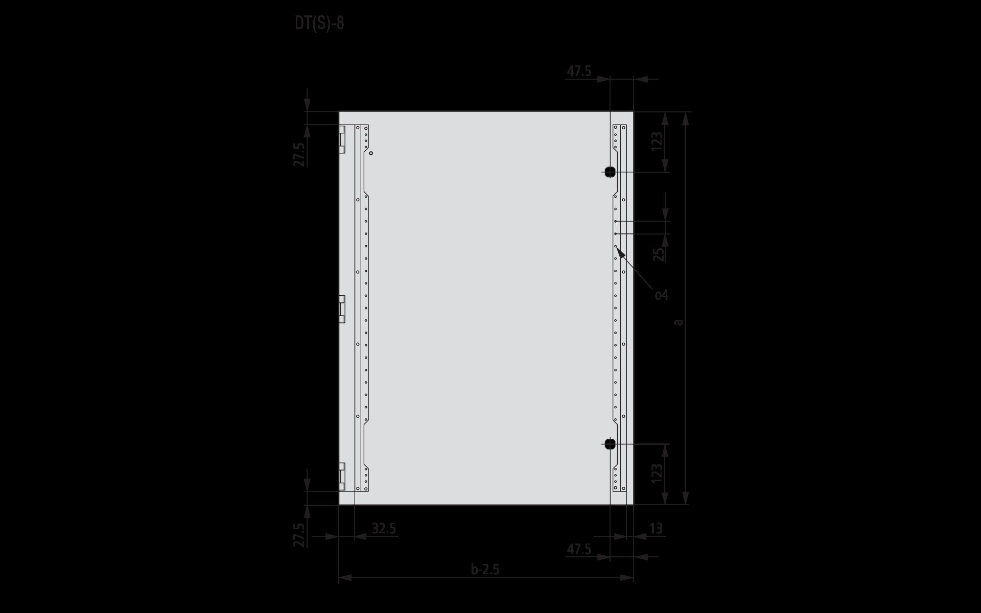 Размеры двери шкафа Eaton CS