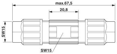 Размеры кабельного соединителя - 1048308