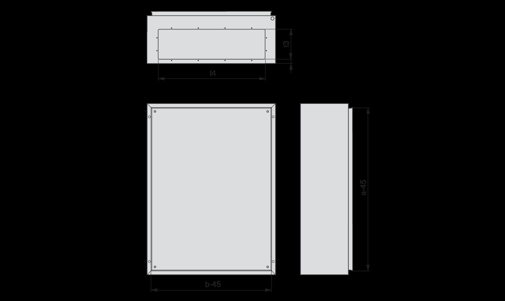 Щиты CS без дверей и без панелей для фланцев