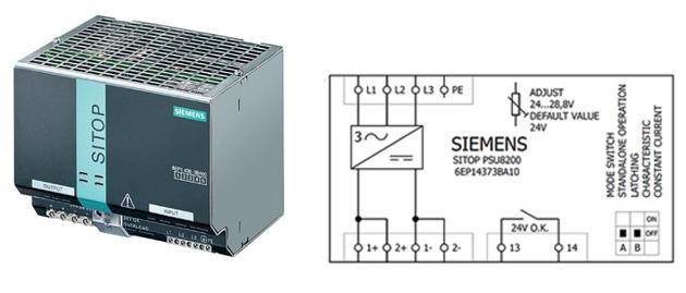 Блок питания SITOP серии SITOP Modular компании Siemens
