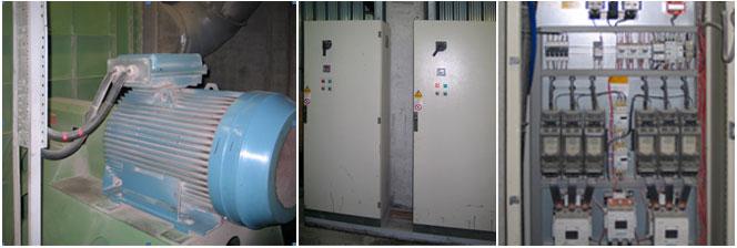 один из вентиляционных двигателей (мощность 250 кВт) и шкафы управления до  модернизации b18e18dcf1cb0